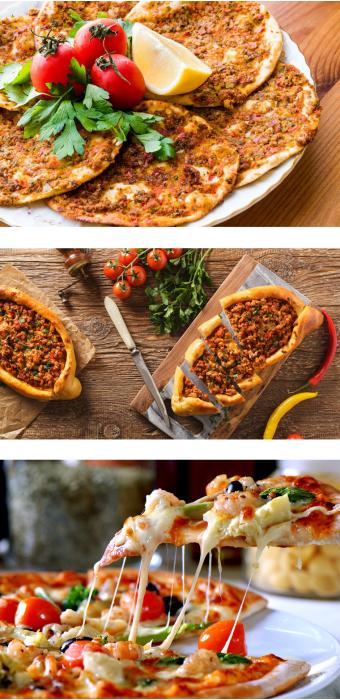 Pide – Pizza – Lahmacun